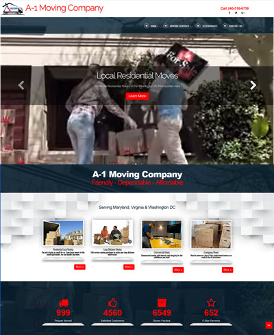 A1 Moving responsive Website, Google Ads, SEO